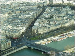 Bird View of Paris from the top of Eiffel Tower